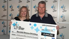Couple 'shellshocked' by £21m lottery win