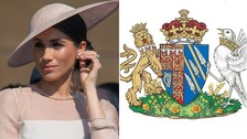 Pacific blue and special poppies adorn Meghan's Coat of Arms