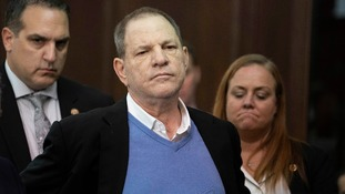 Harvey Weinstein appears in court on rape and sex assault charges