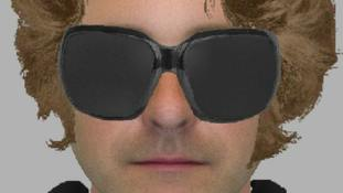 An e-fit of the sunglasses-wearing suspect