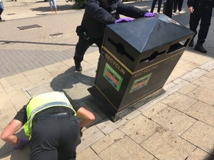 Officers have been out in Luton looking for weapons that have been discarded or hidden for future use