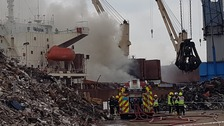 Large fire at Southampton docks now 'under control'