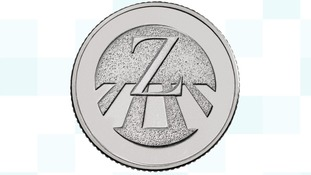 Zebra crossing coin.