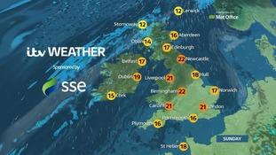 Top temperatures will be around 26C.