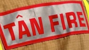 Children hospitalised as fire destroys house near Colwyn Bay