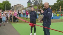 Gregor Townsend opens Galashiels play park