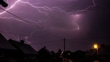 Lightning lights up skies as thunderstorms hit the Midlands