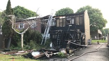 Ten rehoused after home destroyed in blaze