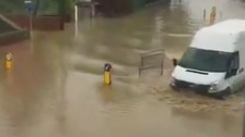 'Severe' flooding to streets and houses in Welshpool