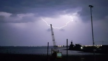 'Mother of all thunderstorms' lights up the south