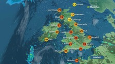 Warm, humid and fine day for many