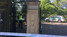 Police cordon off park in Newcastle city centre