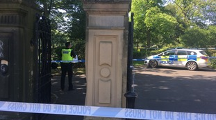 The police cordon at Leazes Park