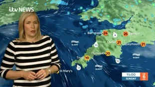 The weather today in the South West with Kate Haskell