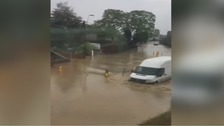 Flash flooding hits homes and hospital in Welshpool