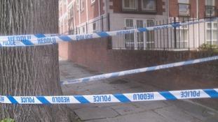 The scene at Oakfield Street, Roath