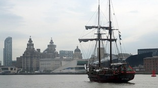 One of the tall ships in Liverpool