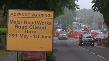 Road closures as resurfacing work gets underway on Sweet Briar Road roundabout