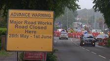 Road closures as resurfacing work gets underway on Sweet Briar Road roundabout