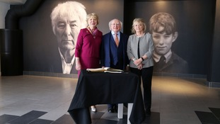 Irish President pays tribute to Seamus Heaney during museum visit