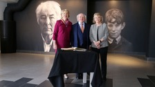 Irish President visits Seamus Heaney museum