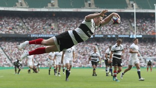 England beaten by Barbarians at Twickenham as Chris Ashton gets hat-trick