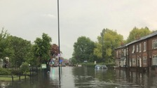 Torrential rain leaves parts of the West Midlands flooded