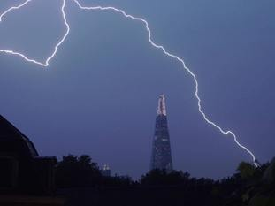 Thunderstorms hit areas of the UK over the bank holiday weekend.