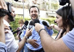 Mr Mattarella's veto on Sunday enraged League leader Matteo Salvini, pictured (Flavio Lo Scalzo/ANSA via AP)