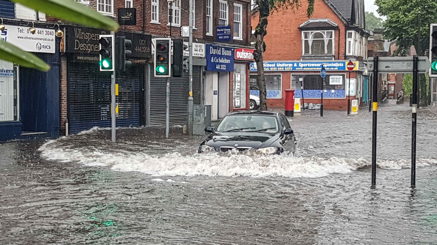 Car Parts Birmingham >> Clean-up underway as torrential rain causes flooding in the Midlands | Central - ITV News