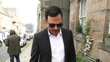 Singer Will Young arrives at Jedburgh Sheriff Court.