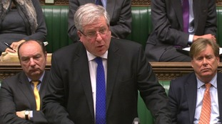 Transport Secretary  Patrick McLoughlin speaking to the House of Commons