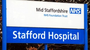 Entrance to Stafford Hospital