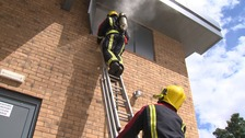 West Midlands Fire Service during a training session