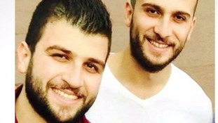 Mohammad Alhajali (l), with his older brother, Omar.