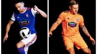Ipswich Town's new home (left) and away (right) kits have been unveiled.