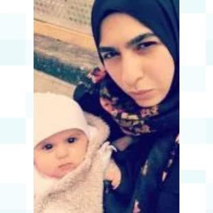 Farah Hamdan and her baby Leena.
