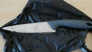 A seven-year-old found a buried knife while playing in a children's park