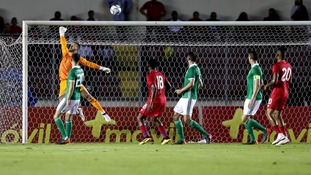 Northern Ireland's Trevor Carson makes a save during Wednesday's friendly.