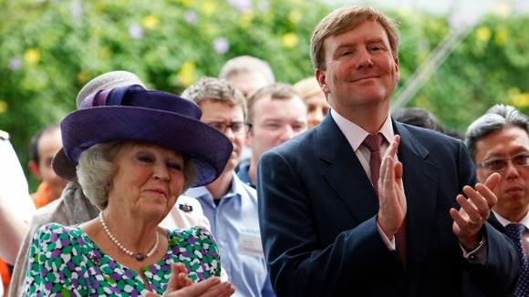 Queen Beatrix of the Netherlands and Crown Prince Willem-Alexander
