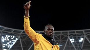 Sprint legend Bolt training with Stromsgodset
