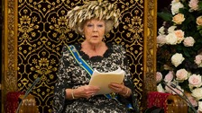 Queen Beatrix officially opens the new parliamentary year with a speech in September 2012