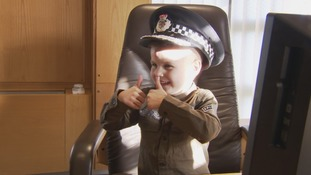 Young boy who dreams of being a cop has been given a life saving heart transplant