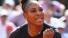 Serena Williams in action at the French Open 2018