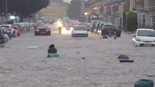 Flash flooding hit parts of Northampton during the Bank Holiday weekend.