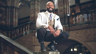 Magid Magid in his inaugural photograph at Sheffield Town Hall.