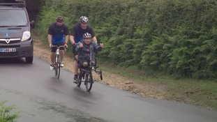 Britain's most badly injured soldier sets off for latest charity challenge