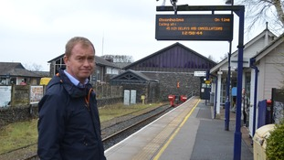 Tim Farron MP at Windermere Station