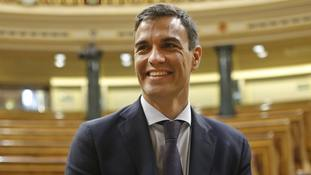 Socialist leader Pedro Sanchez will be sworn in on Saturday.