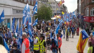 The march took place through the town centre.